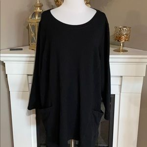 Susan Graver Weekend Black Tunic with Pockets